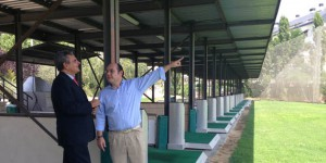 Narciso visitando el club de golf Las Rejas