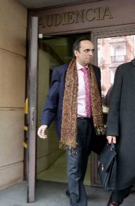 Willy Ortega, a la salida de la Audiencia Nacional