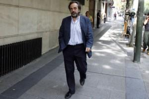 Guilermo Ortega, a la salida de la Audiencia Nacional