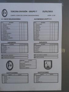 Alineaciones del Rayo-Alcobendas (6-2)