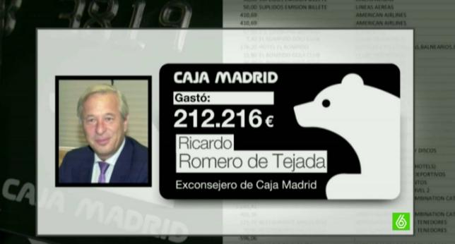 Romero de Tejada y su tarjeta black