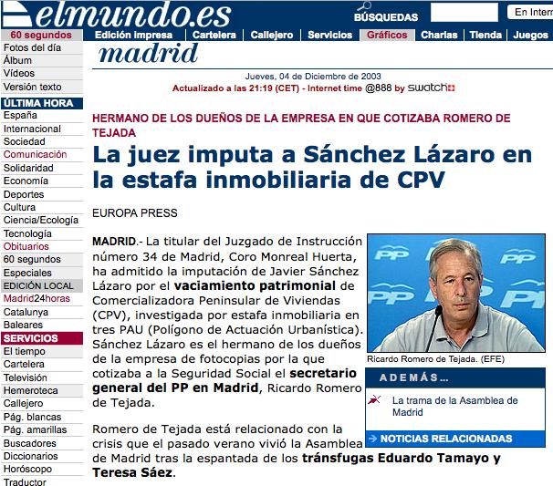 El Mundo denunció a R. Tejada por un feo asunto