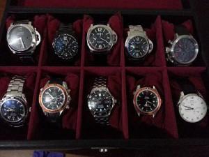 La colección de relojes incluía