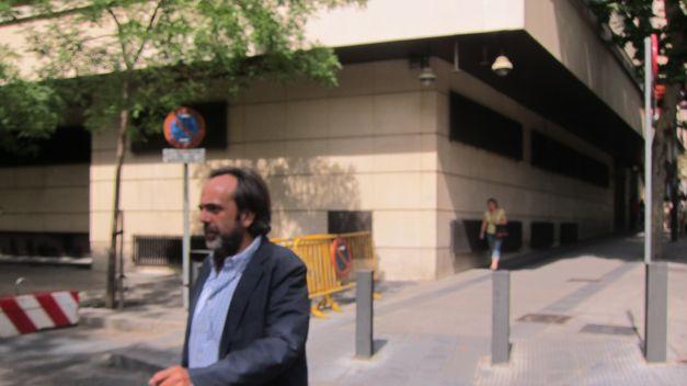 Guillermo Ortega, al salir de la Audiencia Nacional
