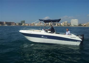 """El 'concesionario' de """"Willy"""" Ortega: su barco es de 5,2 metros de eslora"""