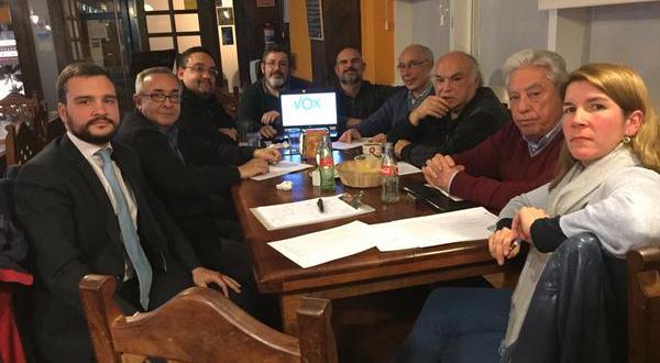 Reunión de Vox con los dirigentes de Majadahonda