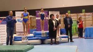 Carlota en el podium