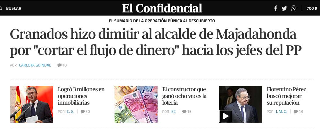 Portada de El Confidencial.com