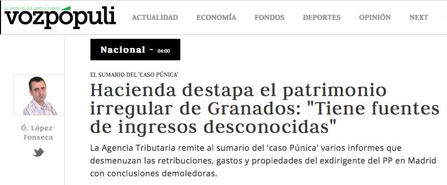 """La noticia en """"Vozpopuli"""""""