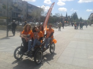 El simpático kart a pedales que asombró en la Gran Via de Majadahonda