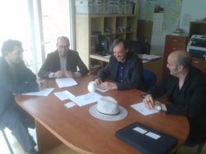 Momento del encuentro entre el CEM y MJD Mgz