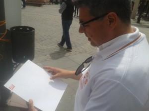 Antonio Rodríguez y elprograma en braille