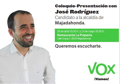 VOX presenta a su candidato este martes en MJD