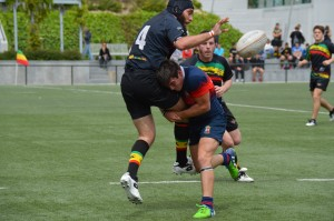 Equipo Senior B masculino, Club de Rugby de Majadahonda en el partido contra XV Hortaleza