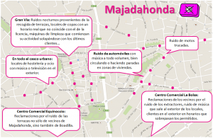 Mapa ruido Majadahonda