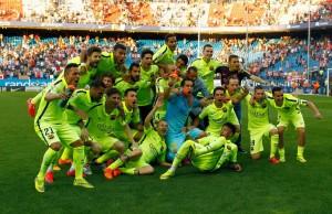 Munir posando con el equipo en el Calderón