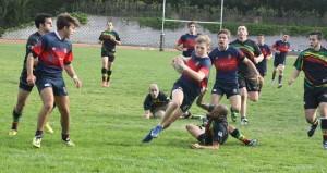 Partido de rugby realizado por el equipo senior B masculino del C. R. Majadahonda