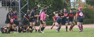 Equipo senior B masculino durante el partido