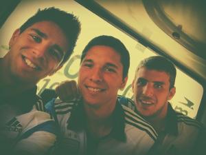 Giovanni Simeone (izq), que jugó en el Rayo Majadahonda, también está en la sub 20 argentina