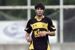 Portilla con el Aris de Salónica, equipo que jugó la Europa League