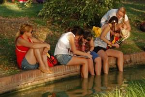 Parque del Retiro, calor