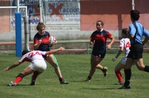 Jugadoras del equipo femenino del Club de Rugby de Majadahonda
