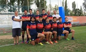 Equipo masculino del CRM en el Campeonato Nacional de Rugby Seven en Jaca