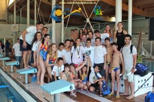Campeones de natación del Club de Natación y Waterpolo Majadahonda Caude