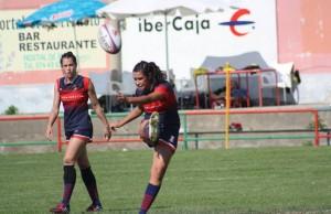 Equipo femenino Club de Rugby Majadahonda en Jaca