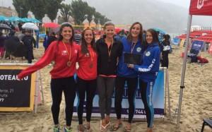 Clara Soler, Carolina Altozano, Olga Matveeva (técnico), Belén Carro y Tania Moreno: CV Majadahonda, campeón de España de Clubes