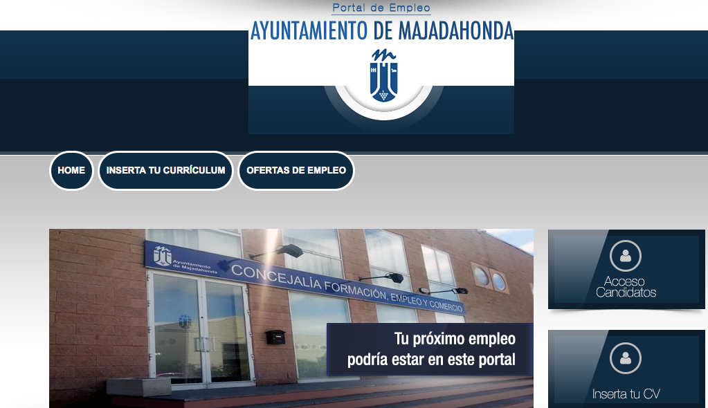 Resultado de imagen de portal de empleo del ayuntamiento de majadahonda