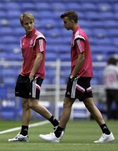 Odegaard y Borja Mayoral