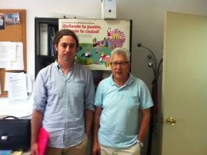 El concejal Juancho Santana (IU) junto a Manuel Fuentes (IU federal), personados como acusación particular en el caso Púnica.