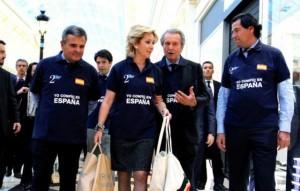 Narciso de Foxá, Esperanza Aguirre, Balkany y el ya ex alcalde de Las Rozas en la inauguración del Plaza Norte 2