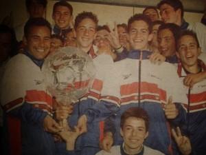 Pedro Calvo (izquierda) con el equipo de Fdo Torres