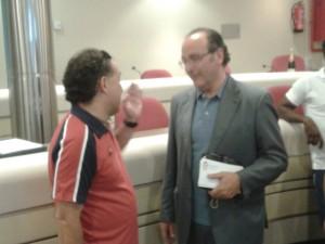 Pedro Calvo y el secretario técnico, José Luis Hdez