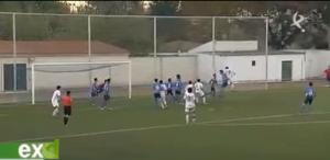El espectacular cabezazo de Adán que terminó en gol