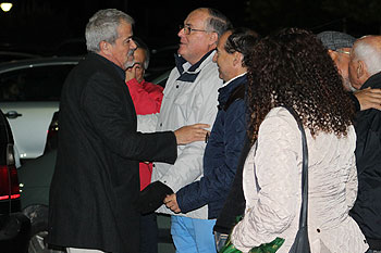 Iriondo, con directivos del San Fernando