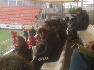 Borja Acha y Pesca siguieron el partido en la grada