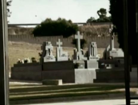 Imágenes del cementerio emitidas por Espejo Público