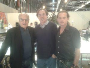 Gordillo, Utrera y el diseñador y pintor Carlos Horacio Valera