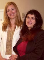 Sonia Núñez y Lucía Etxebarría
