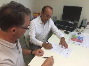 Manuel Durán (MJD) y Jacinto Santodomingo (CECM)