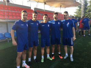 Tiago Portuga, Vicente, Ñoño, Carlitos y Aitor Núñez