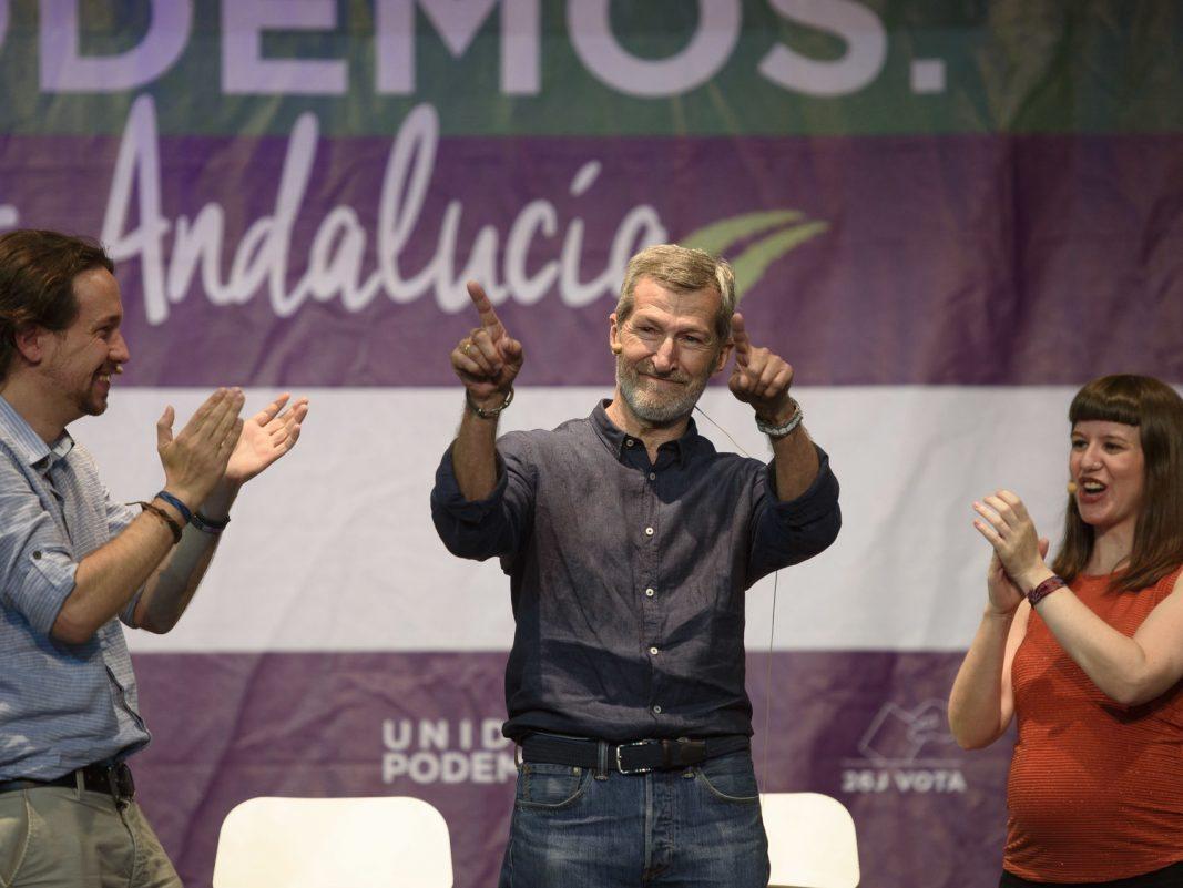 Julio Rodríguez en un mítin