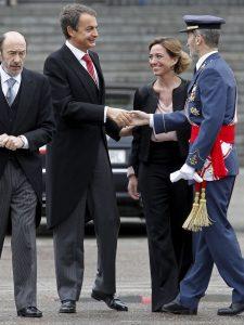 Zapatero y Julio Rodríguez