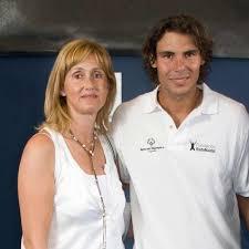 Rafa Nadal y su madre, Ana María Parera,