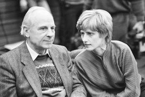 Politik,Petra KELLY,Die Gruenen,mit Gert BASTIAN,bei der Bundesversammlung der Gruenen 1985null [ Rechtehinweis: usage worldwide, Verwendung weltweit ]