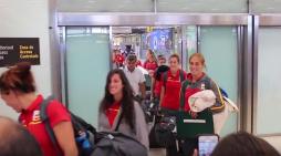 Rugby femenino: Caluroso recibimiento a María Casado (CR Majadahonda) a su llegada a España
