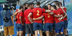 Pablo Fontes con la selección de rugby